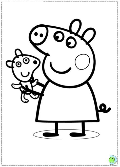colouring pictures of peppa pig and george peppa pig coloring pages printable coloring page peppa