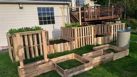diy pallet garden raised flower bed ideas  pallets