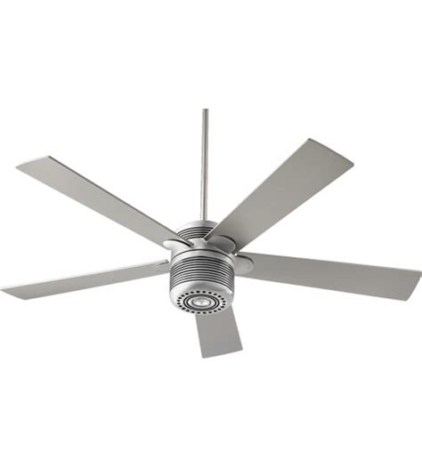 16 ceiling fan quorum 600525 16 telstar 52 inch brushed aluminum with grey blades ceiling fan