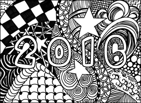 happy new year printable coloring pages 2016 happy new year 2016 coloriages pinterest coloration