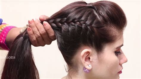 beautiful unique hairstyle  long hair simple craft ideas