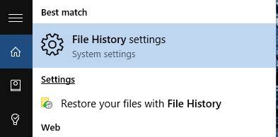 File Search How To Back Up Files With File History In Windows 10