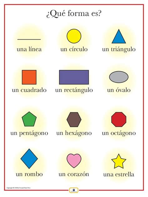 printable shapes in spanish spanish shapes poster spanish shape and spanish sentences
