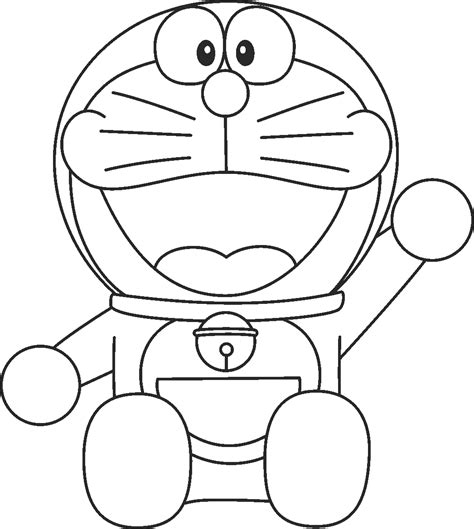 Free Coloring Page Doraemon | smiling doraemon coloring pages free boys pages of