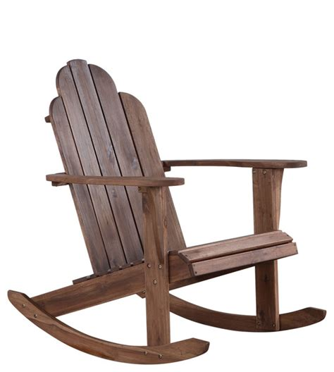 Outdoor Rocker Chair by Teak Adirondack Rocker Farmhouse Outdoor Rocking