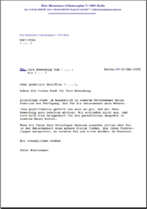 Muster Spontanbewerbung Schweiz Dehoga Shop Absage Einer Initiativbewerbung Blindbewerbung Kaufen