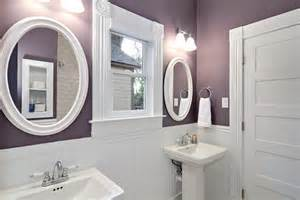 Purple and white bathroom traditional bathroom