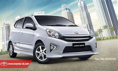 Lu Mobil Belakang Agya Perbedaan Antara Toyota Agya Tipe E G Dan Trd Sportivo