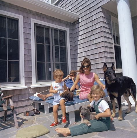 home to jfk st c267 7 63 kennedy family with dogs in hyannis port