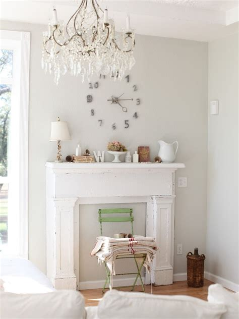 25 best ideas about shabby chic fireplace on candle fireplace shabby chic mantle