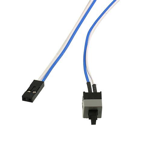 wandle mit kabel und schalter 2x 20 5 quot lange energie button schalter kabel fuer pc