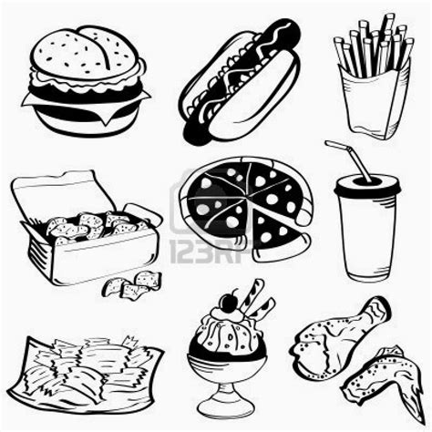 free coloring pages fast food coloring pictures of food