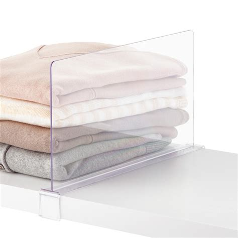 elfa d 233 cor shelf dividers the container store