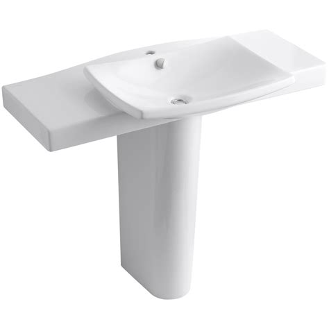 single hole faucet bathroom sink kohler k 18691 1 escale pedestal bathroom sink with single