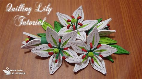 quilling lily tutorial quilling lily flower tutorial quilling flor de lirio