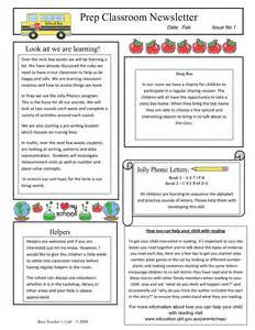 Classroom Letter Templates Classroom Newsletter Sample In Word And Pdf Formats