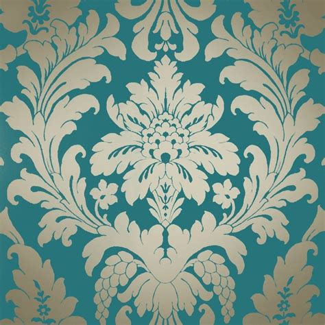 wallpaper large red damask on metallic gold background ebay shimmer metallic grande damask wallpaper rich teal gold