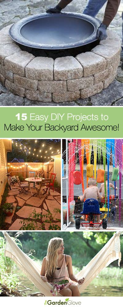 how to build a beach in your backyard 15 easy diy projects to make your backyard awesome the garden glove