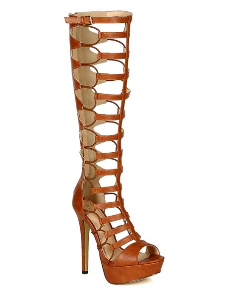 knee high strappy heels new liliana heighten 33 knee high strappy gladiator