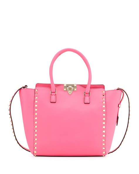 Valentinos Metallic Mesh Shopper by Lyst Valentino Rockstud Medium Shopper Tote Bag Pink