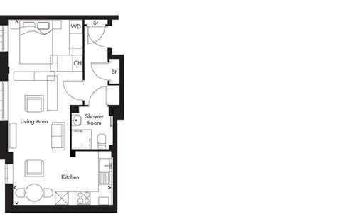 studio type floor plan almandine apartments glasgow ogilvie homes