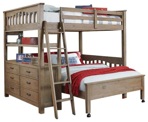 Loft Bed With Study Desk by Crosspointe Size Study Loft Bed With Desk Board Traditional Beds By Totally