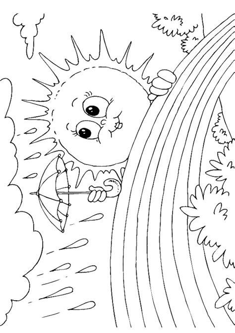 rainbow umbrella coloring page 171 funnycrafts sun rainbow coloring page teacherplanet com