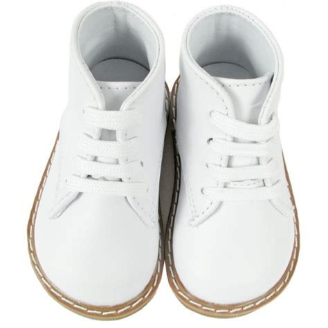 baby deer 174 6229 white leather hi top walking shoe with