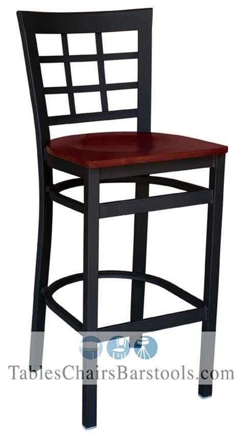 gladiator commercial grade square backless bar stool gladiator window pane metal bar stool with mahogany wood