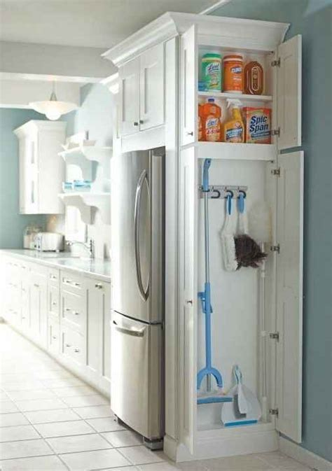 Kitchen Cabinet Cleaning Products Add A Cabinet To Any Dead Space In Your Kitchen Or Laundry