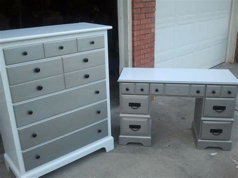 matching desk and dresser that s not junk refurbished recycled furniture boys