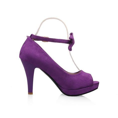 purple suede high heels cheap vintage peep toe stiletto high heel purple