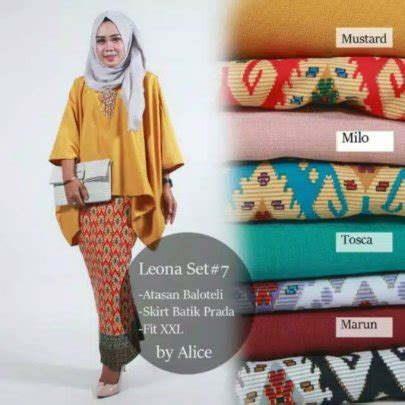 Baju Leona Dress jual leona set 7 di lapak butik fashion lia batik shop