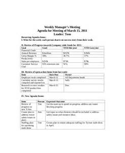 weekly meeting agenda template 12 weekly meeting agenda templates free sle exle