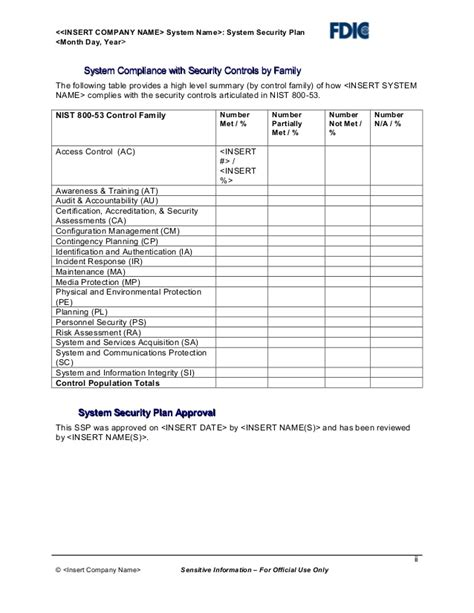 fips 199 assessment template it security plan template