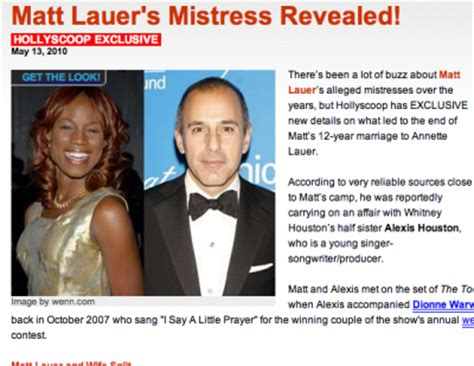 what man does matt lauer think is so handsome random thread whitney being mentioned in classic whitney