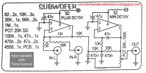 Pcb Tone Stereo Tr Plus Subwoofer Jrc4558 subwoofer module lifier using 4558 with pcb