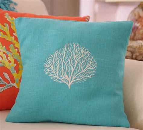 turquoise pillows for couch turquoise coral throw pillows buzzardfilm com coral