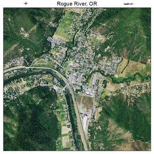 aerial photography map of rogue river or oregon