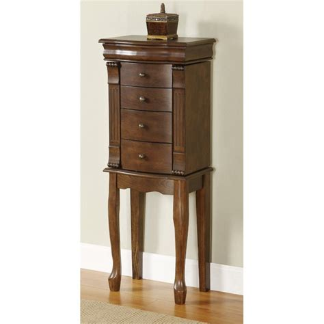 walnut jewelry armoire powell furniture louis philippe walnut jewelry armoire ebay