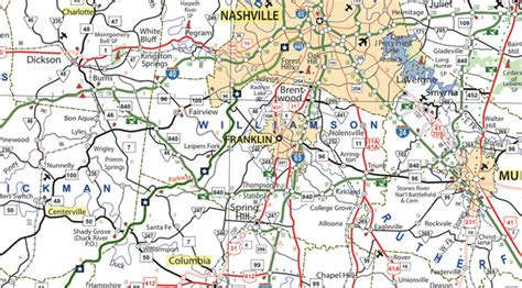 middle tn map new tn state map available williamson source