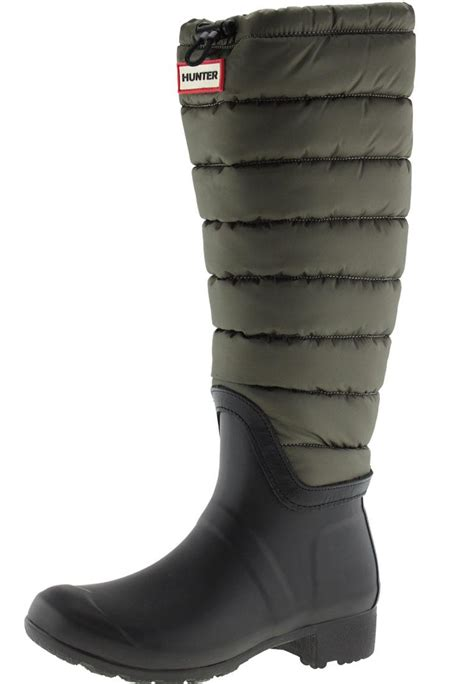 Quilted Wellington Boots by Womens Original Quilted Leg Wellington Boots By