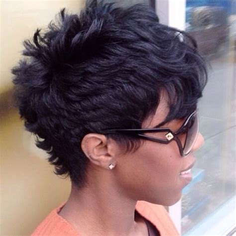 short cut with feathers african americans styles pixie haircut african american short pixie haircuts