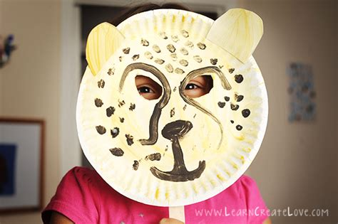 cheetah crafts for cheetah mask craft