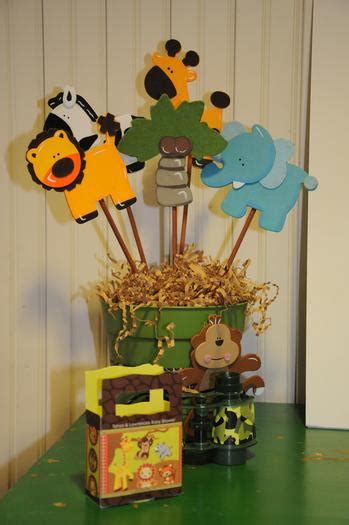Safari Baby Shower Centerpieces by It S A Jungle Out There Themed Baby Shower Baby Shower