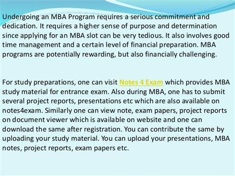 Mba Study Notes by Importance Of Mba