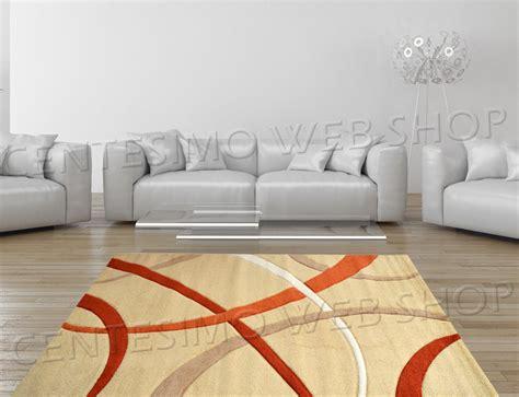 tappeti arredo moderni tappeto moderno 2 misure arredo panna beige arancio