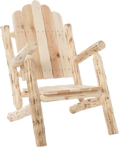 rustic rocking chair kit diy log furniture kits pinteres
