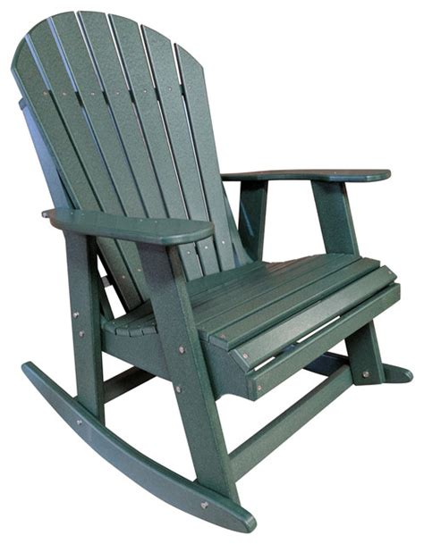 Poly Lumber Adirondack Chairs by The Outdoor Chair Poly Lumber Adirondack Rocking Chair Outdoor Rocking Chairs Houzz