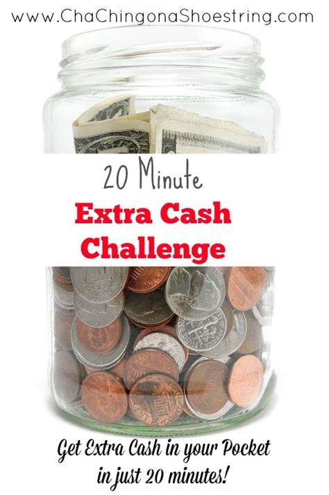 Make Extra Money Online Free - 20 minute extra cash daily checklist cha ching on a shoestring